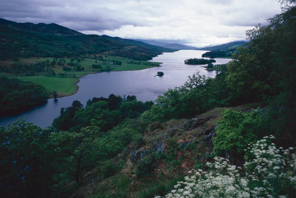 Großbritannien, Schottland, Highlands, Tummel Loch (1987)