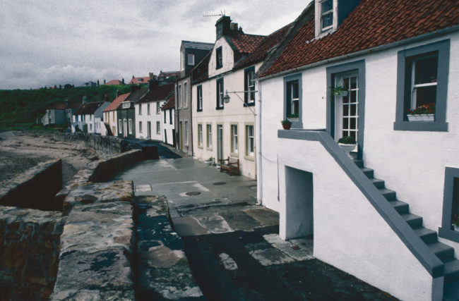 Großbritannien, Schottland, East Neuk of Fife, Anstruther, Häuser am Ufer (1987)