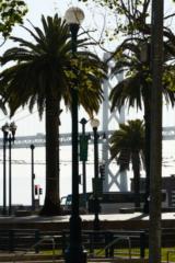 USA, Kalifornien, San Francisco, Embarcadero & Oakland Bay Bridge (2016)