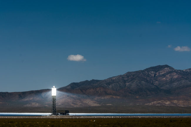 USA, Kalifornien, Nipton, Ivanpah Solar Electric Generating System (2016)