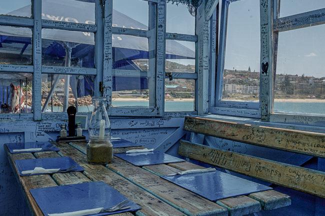 Südafrika, Mossel Bay, Seefood-Restaurant am Hafen (2014)