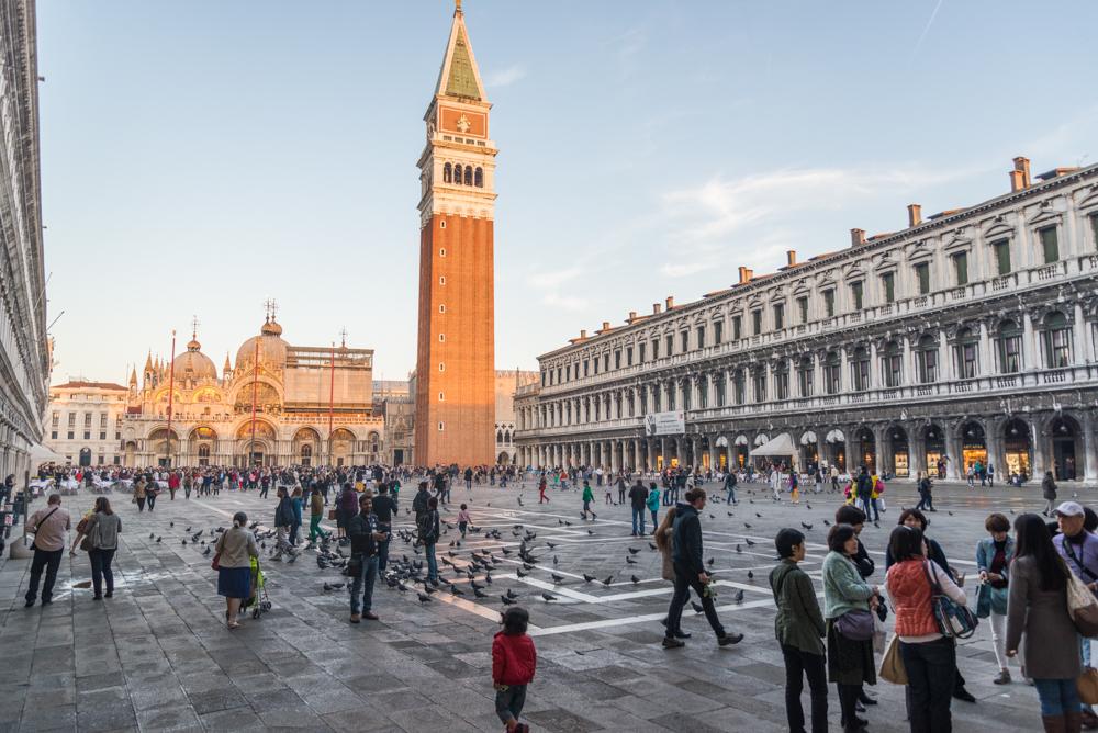 Venedig, Italien, Markusplatz mit Basilica di San Marco und Campanile