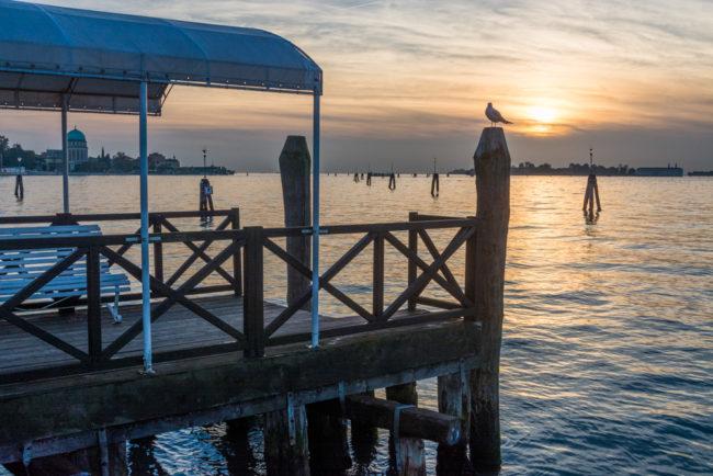 Venedig, Italien, Bootsanleger Lido