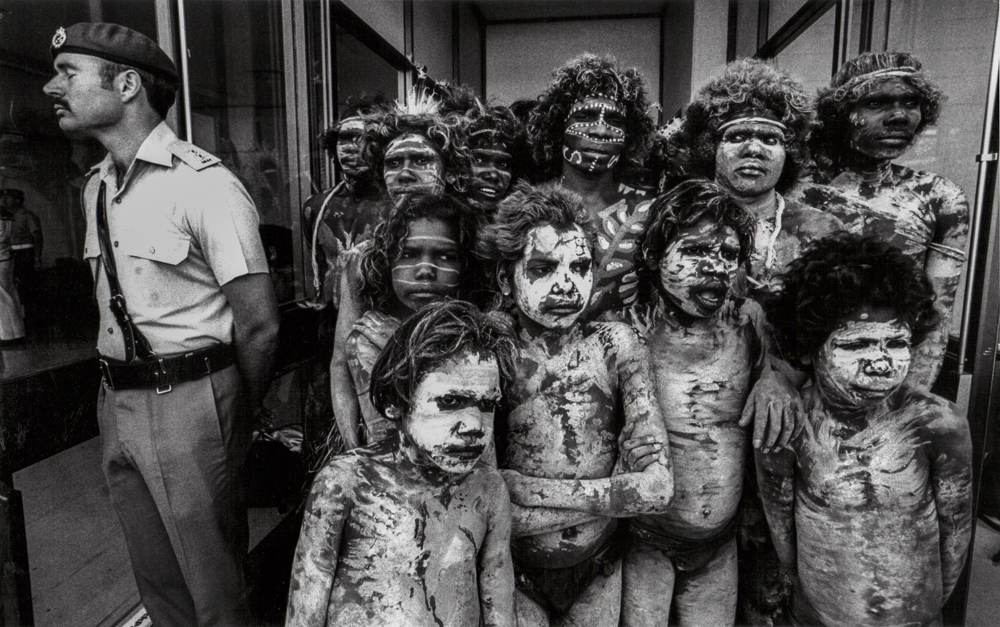 Australien, Brisbane, Eröffnungsfeier Commonwealth Games, Aboriginal dancers (1982)