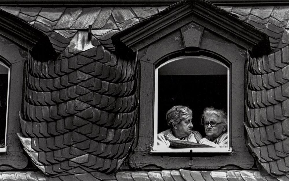 Deutschland, Mainz, Demo-Zuschauer (1980)