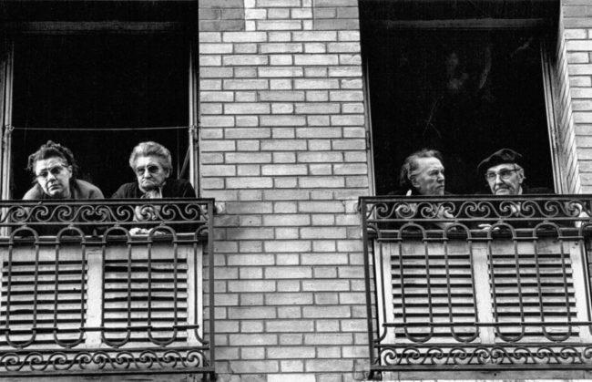 Frankreich, Paris, Demo-Zuschauer (1979)
