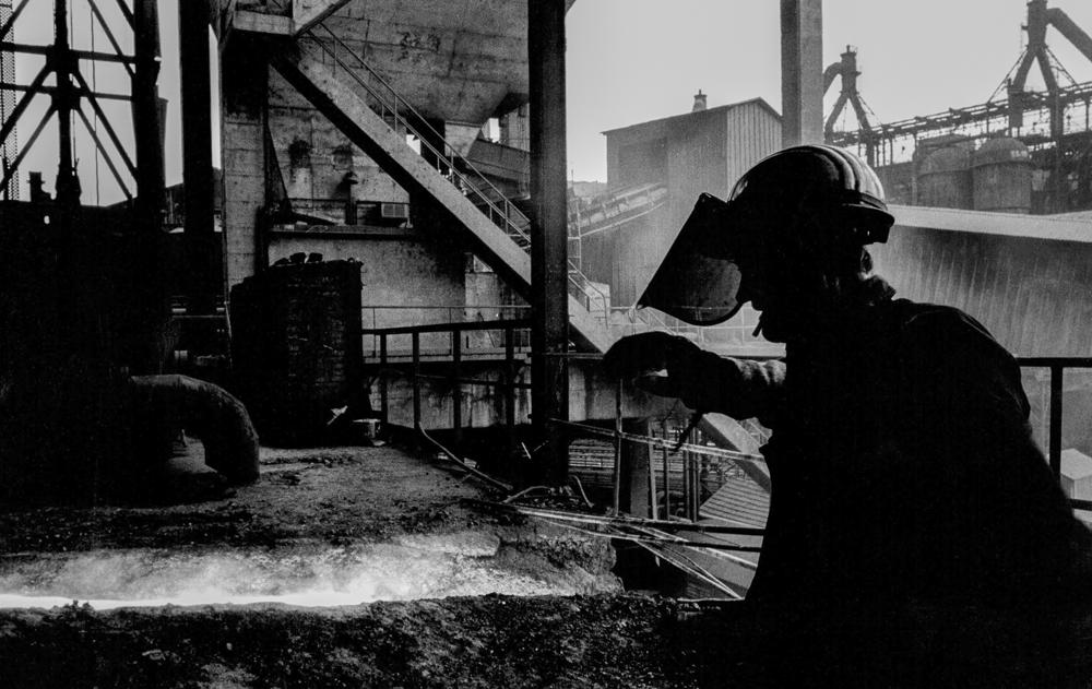 Frankreich, Longwy, Stahlwerk (1979)