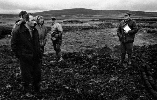 Großbritannien, Schottland, Highlands, Torfauktion (1987)