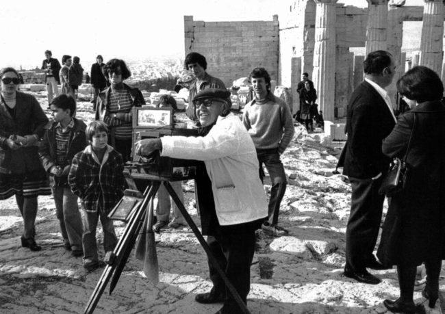 Griechenland, Athen, Touristenfotograf auf der Akropolis (1975)
