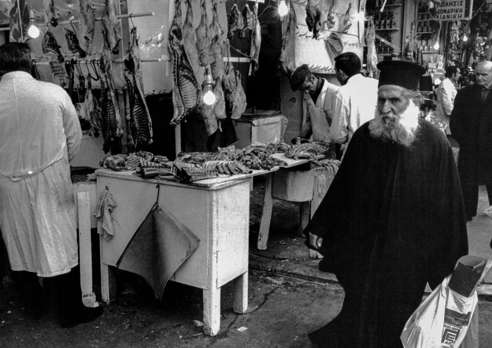 Griechenland, Athen, Fleischmarkt (1975)