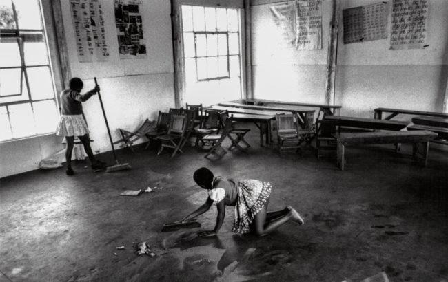 Südafrika, Kapstadt, Apartheid, Crossroads Sizamile School - (1978)