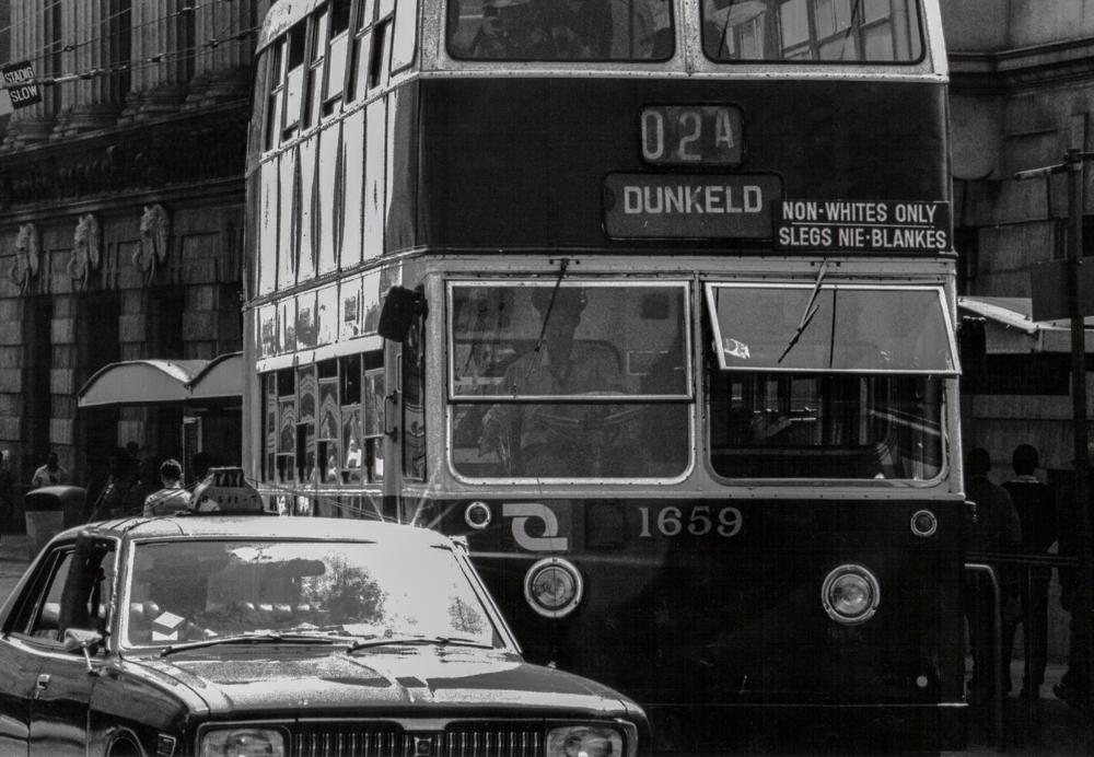 Südafrika, Johannesburg, Apartheid, Bus nur für Schwarze - (1978)