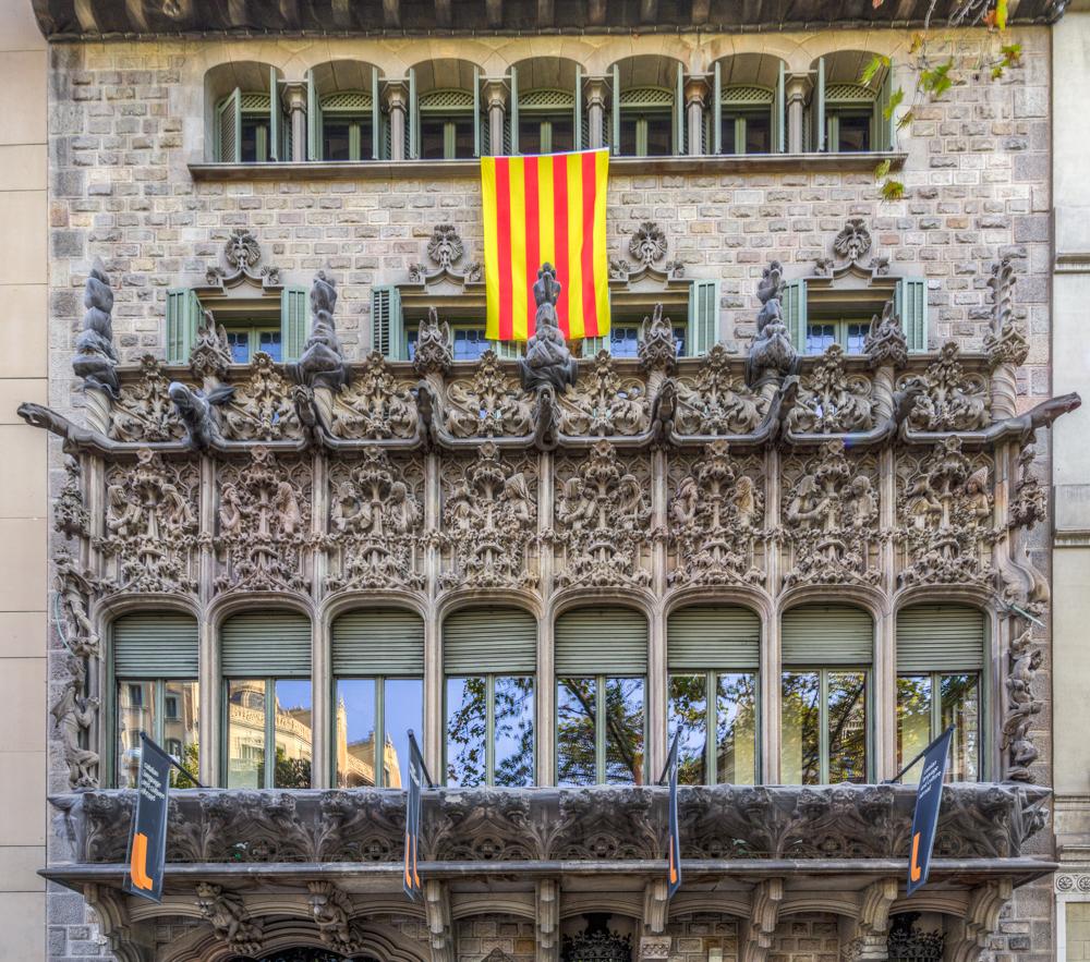 Spanien, Katalonien, Barcelona, Modernisme-Architektur, Puig i Cadafalch, Palau del Baró de Quadras - (2017)