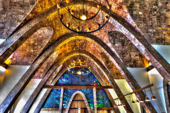 Spanien, Katalonien, Sant Sadurnì d'Anoia, Codorniú, Modernisme-Architektur, Puig i Cadafalch - (2017)