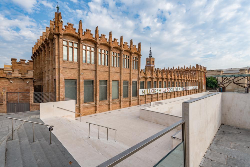 Spanien, Katalonien, Barcelona, Modernisme-Architektur, Puig i Cadafalch, Fábrica Casaramona - (2017)
