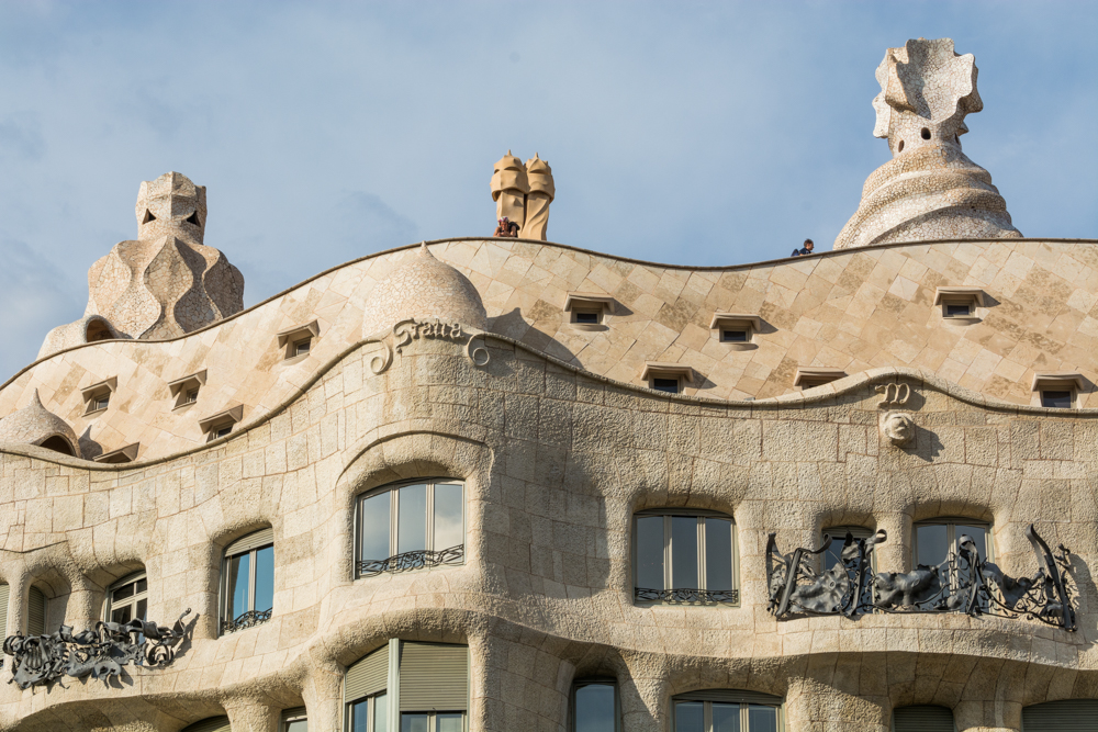 Spanien, Katalonien, Barcelona, Modernisme-Architektur, Gaudì La Pedrera, Passeig de Grácia - (2017)