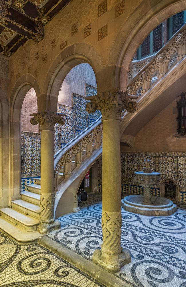Spanien, Katalonien, Barcelona, Modernisme-Architektur, Josep Puig i Cadafalch, Palau del Baró de Quadras (2017)
