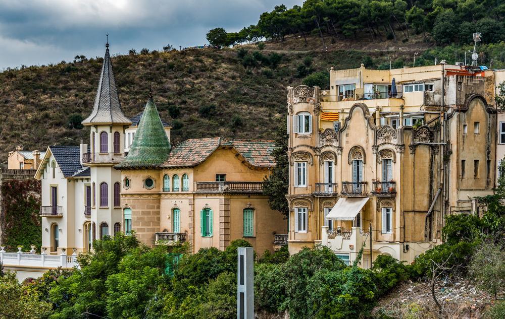 Spanien, Katalonien, Barcelona, Modernisme-Architektur, Gründerzeitgebäude am Tibidabo - (2017)